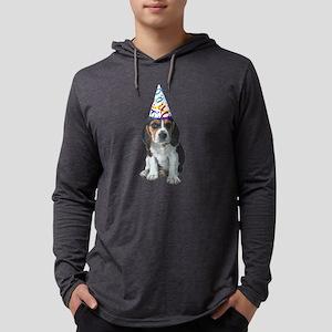 Beagle Party Mens Hooded Shirt