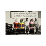 Upside Down House Rectangle Magnet Magnets