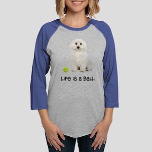 Bichon Frise Life Womens Baseball Tee