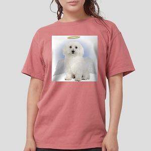 Angel Bichon Frise Womens Comfort Colors Shirt