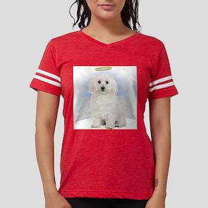 Angel Bichon Frise Womens Football Shirt