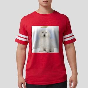 Angel Bichon Frise Mens Football Shirt