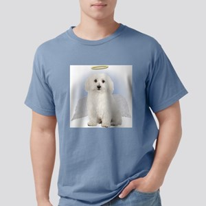 Angel Bichon Frise Mens Comfort Colors Shirt