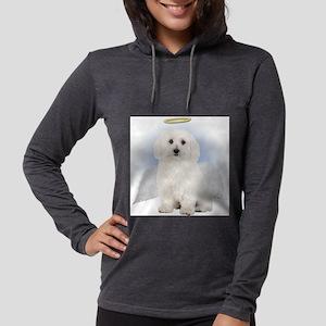 Angel Bichon Frise Womens Hooded Shirt