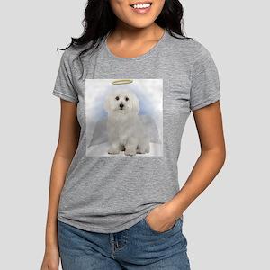 Angel Bichon Frise Womens Tri-blend T-Shirt