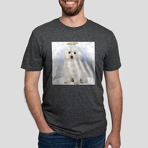Angel Bichon Frise Mens Tri-blend T-Shirt