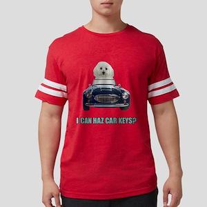 Driving Bichon Frise Mens Football Shirt
