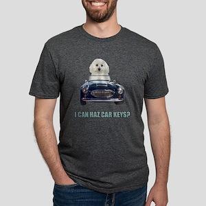 Driving Bichon Frise Mens Tri-blend T-Shirt