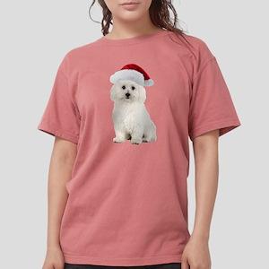 Bichon Frise Christmas Womens Comfort Colors Shirt