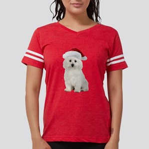 Bichon Frise Christmas Womens Football Shirt
