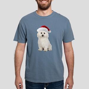 Bichon Frise Christmas Mens Comfort Colors Shirt