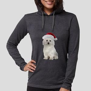 Bichon Frise Christmas Womens Hooded Shirt