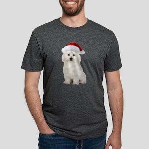 Bichon Frise Christmas Mens Tri-blend T-Shirt