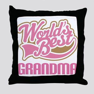 Worlds Best Grandma Throw Pillow