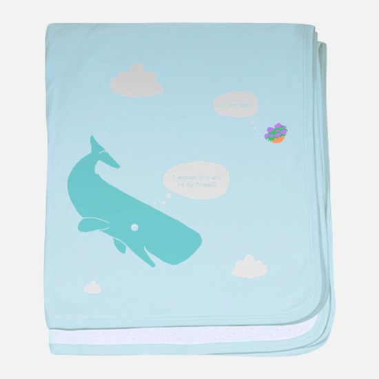 Hitchhiker Whale & Petunia baby blanket