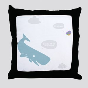 Hitchhiker Whale & Petunia Throw Pillow