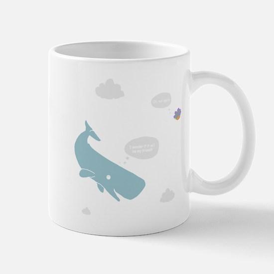 Hitchhiker Whale & Petunia Mug