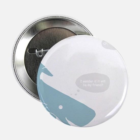 "Hitchhiker Whale & Petunia 2.25"" Button"