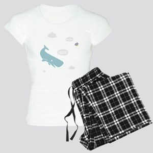 Hitchhiker Whale & Petunia Women's Light Pajamas