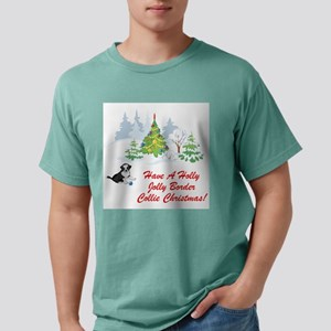 FIN-border-collie-christmas Mens Comfort Color