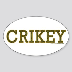 Crikey Oval Sticker
