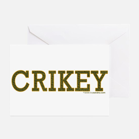 Crikey Greeting Cards (Pk of 10)