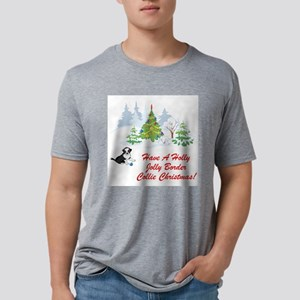 FIN-border-collie-christmas Mens Tri-blend T-S