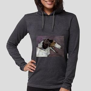 FIN-borzoi-painting Womens Hooded Shirt