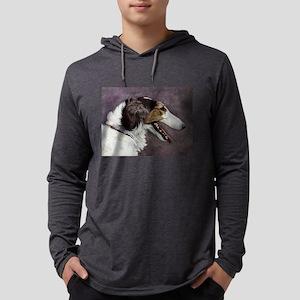 FIN-borzoi-painting Mens Hooded Shirt