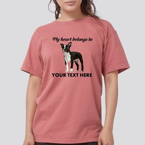 Personalized Boston Terrier Womens Comfort Colors