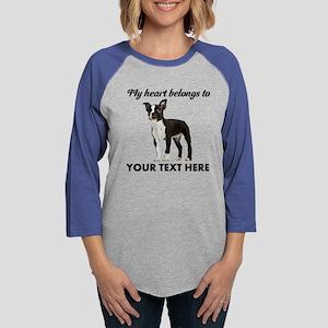 Personalized Boston Terrier Womens Baseball Tee