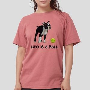 Boston Terrier Life Womens Comfort Colors Shirt