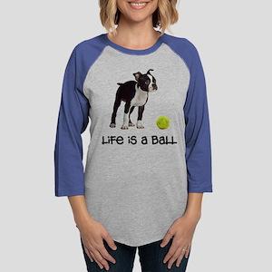 Boston Terrier Life Womens Baseball Tee