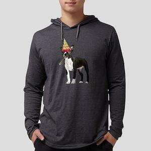 Boston Terrier Birthday Mens Hooded Shirt