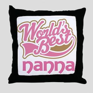 Worlds Best Nanna Throw Pillow