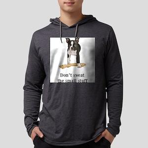 Boston Terrier Attitude Mens Hooded Shirt