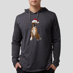 Santa Boxer Mens Hooded Shirt