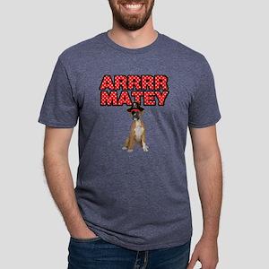 Pirate Boxer Dog Mens Tri-blend T-Shirt