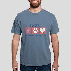 FIN-boxer-pawprints Mens Comfort Colors Shirt