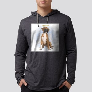 Angel Boxer Puppy Mens Hooded Shirt