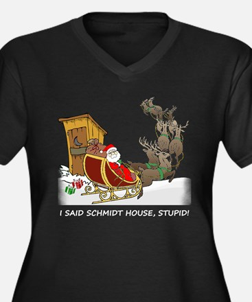 Schmidt House Funny Christmas Women's Plus Size V-