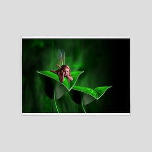 Leaf Fairy 5'x7'Area Rug