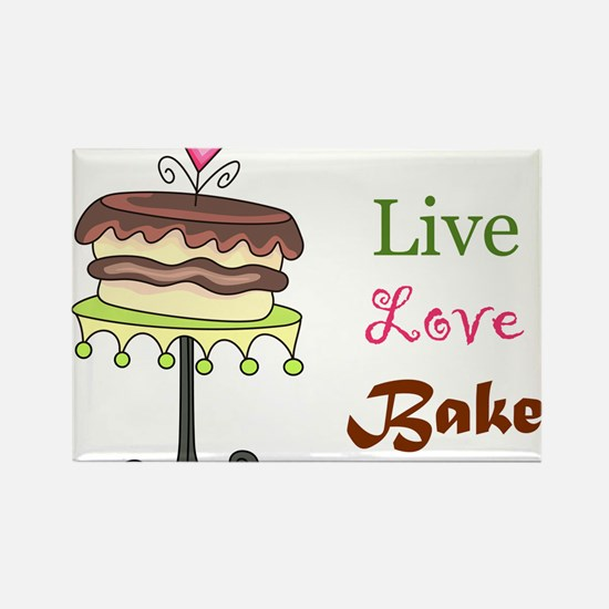 Live Love Bake Rectangle Magnet