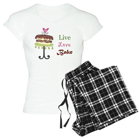 Live Love Bake Women's Light Pajamas