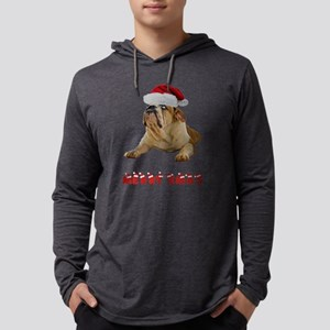 FIN-bulldog-lying-merry-xmas Mens Hooded Shirt