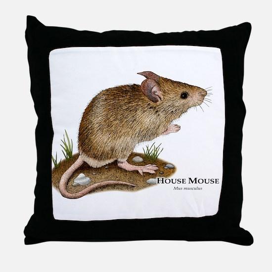 House Mouse Throw Pillow