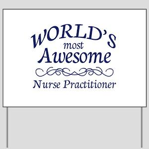 Nurse Practitioner Yard Sign