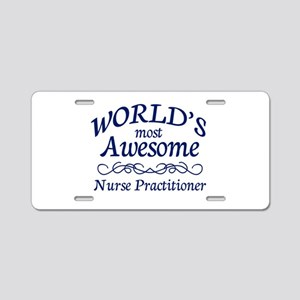 Nurse Practitioner Aluminum License Plate