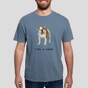 FIN-bulldog-love Mens Comfort Colors Shirt