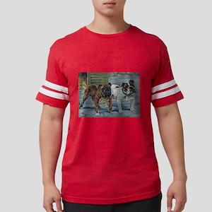Bulldog Watercolor Mens Football Shirt